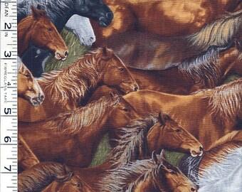 3-3/4 Yards 100% Cotton Fabric - Wild Horses by Robert Kaufman