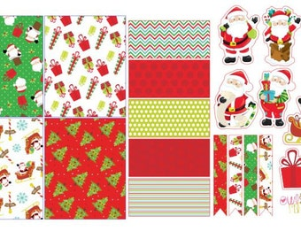 Here Comes Santa Clause Half Sticker Sheet