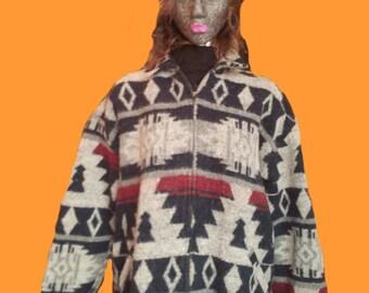 Vintage Aztec zip jacket 1970's