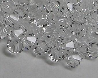 100pcs Swarovski Crystal Bead Bicone 5301 Shadow Crystal 5mm