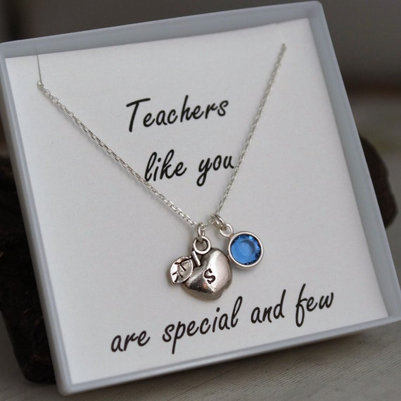 Teacher Necklace - Appreciation Necklace - Teachers like you are special and few