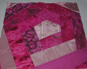 Crazy Quilt Block, Pink, Like it, Buy it, embelish it, finish it, make it yours  #6
