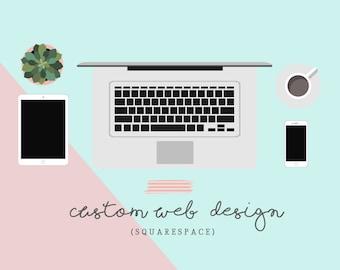 Custom Web Design, Custom Website Design, Custom Squarespace Design, 5 Page Web Website, Custom Blog Design