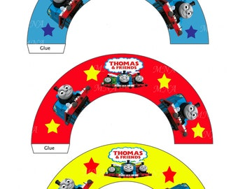 Thomas the Tank - Thomas the train - Thomas the tank Engine Cupcake Topper & Wrapper Set -  Instant Download