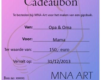 Cadeaubon van MNA Art