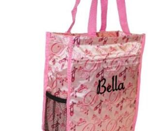 DANCE BAG, BALLERINA Bag, Dancers Bag, Dancers Tote Bag, Pink Tote Bag