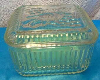 Vintage glass Refrigerator Dish Mint Condition