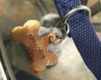Handmade Copper Pet ID tag