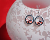 Handmade Quilling Earring - Coral Reef