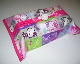 TISSUE BOX COVERS - hello kitty design ( pink)- hello kitty tissue box covers - hello kitty kleenex box - hello kitty decor - kitty gifts