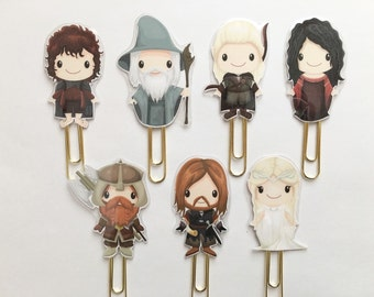 Fairy Tale Lord of the Rings Double Sided Planner Clip - Made to Order