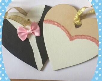 Bride and Groom hearts