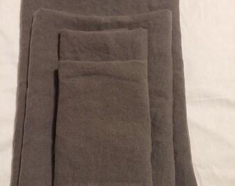 Linen Bath Towel Set - Charcoal