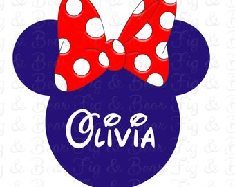 Personalized 4th of July Disney Minnie Mouse On Transfer Personalized Free