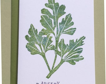 Parsley Note Card