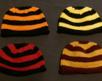 Striped Roll Brim Baby Beanies - Various Colors