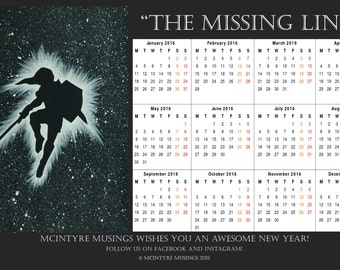 2016 Wall Calendar - The Missing Link