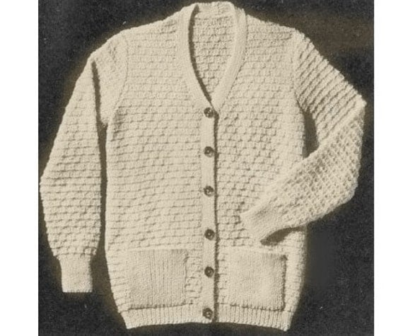 Pattern For Women's Cardigan Sweater - PDF Knitting Pattern ...