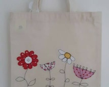 kids tote bag using free motion embroidery various designs GBP 7.00