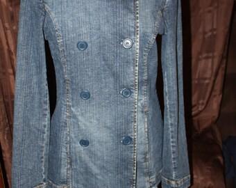 Women's Denim Pea Coat