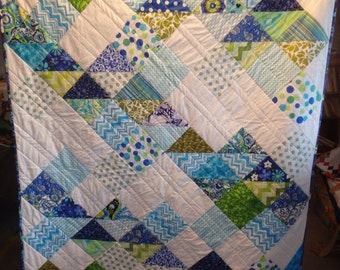Blue And White Quilt Etsy