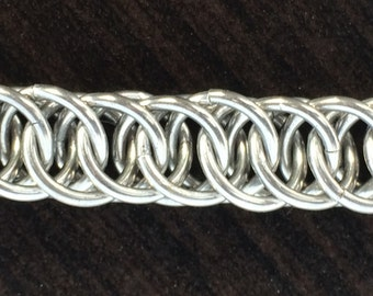 Chainmail Bracelet- Silver Half Persian