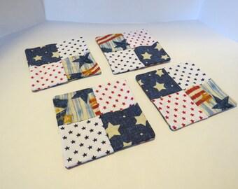 Set of 4 Americana coasters