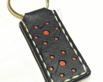 Black & Tan Leather Key Chain