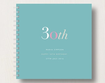 Personalised 30th Birthday Memories Book or Album