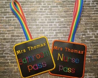 Custom teacher appreciation school passes