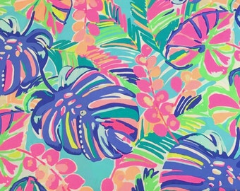 Lilly Pulitzer Fabric Exotic Garden Dobby Cotton