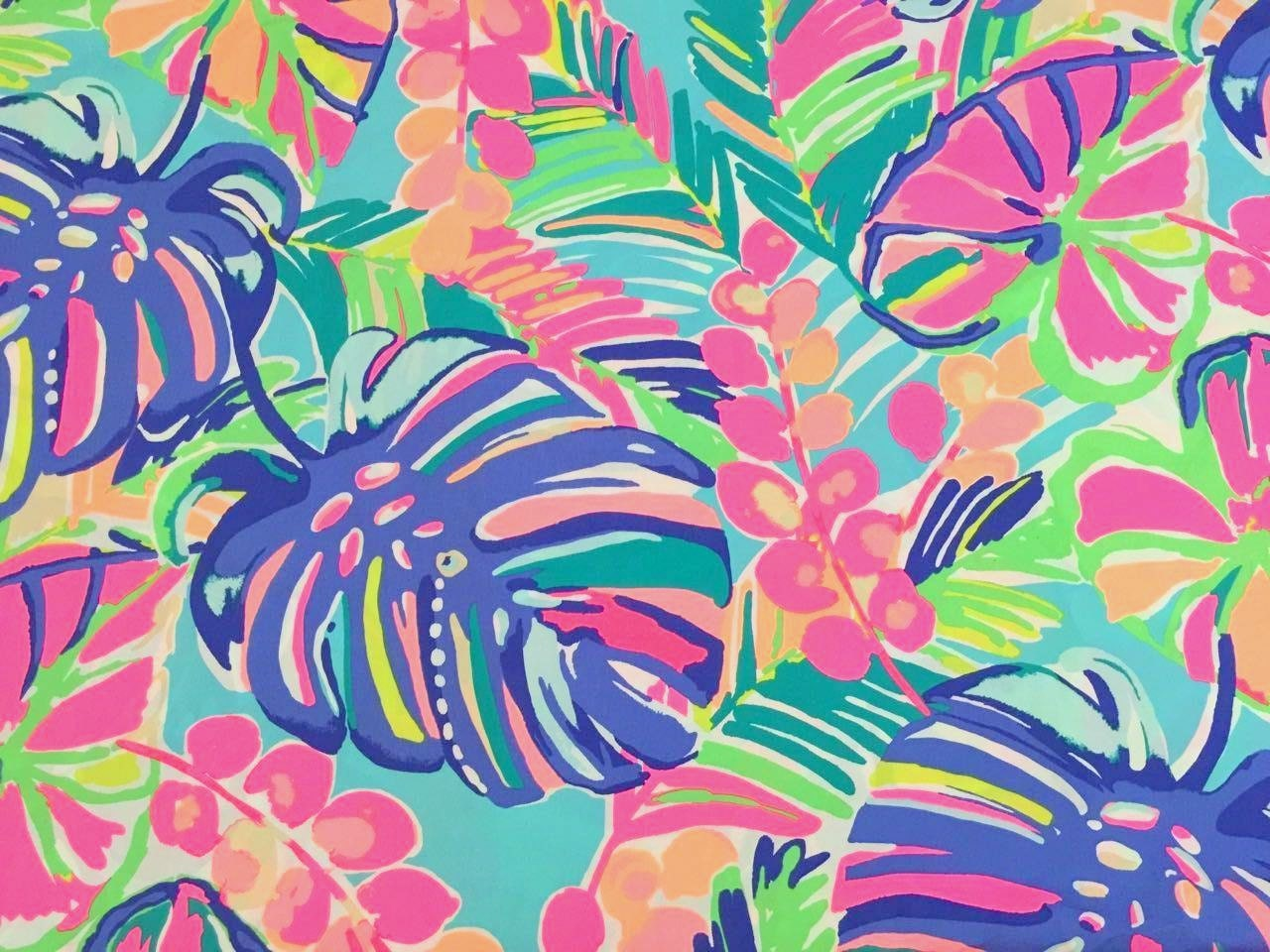 Lilly Pulitzer Fabric Exotic Garden Dobby Cotton From