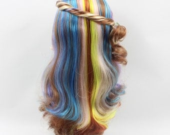 Blythe doll hair scalp, Blythe scalp, colorful hair, blythe accessary,  fringe or no fringe, gift for her, colorful wig, bands and no bands