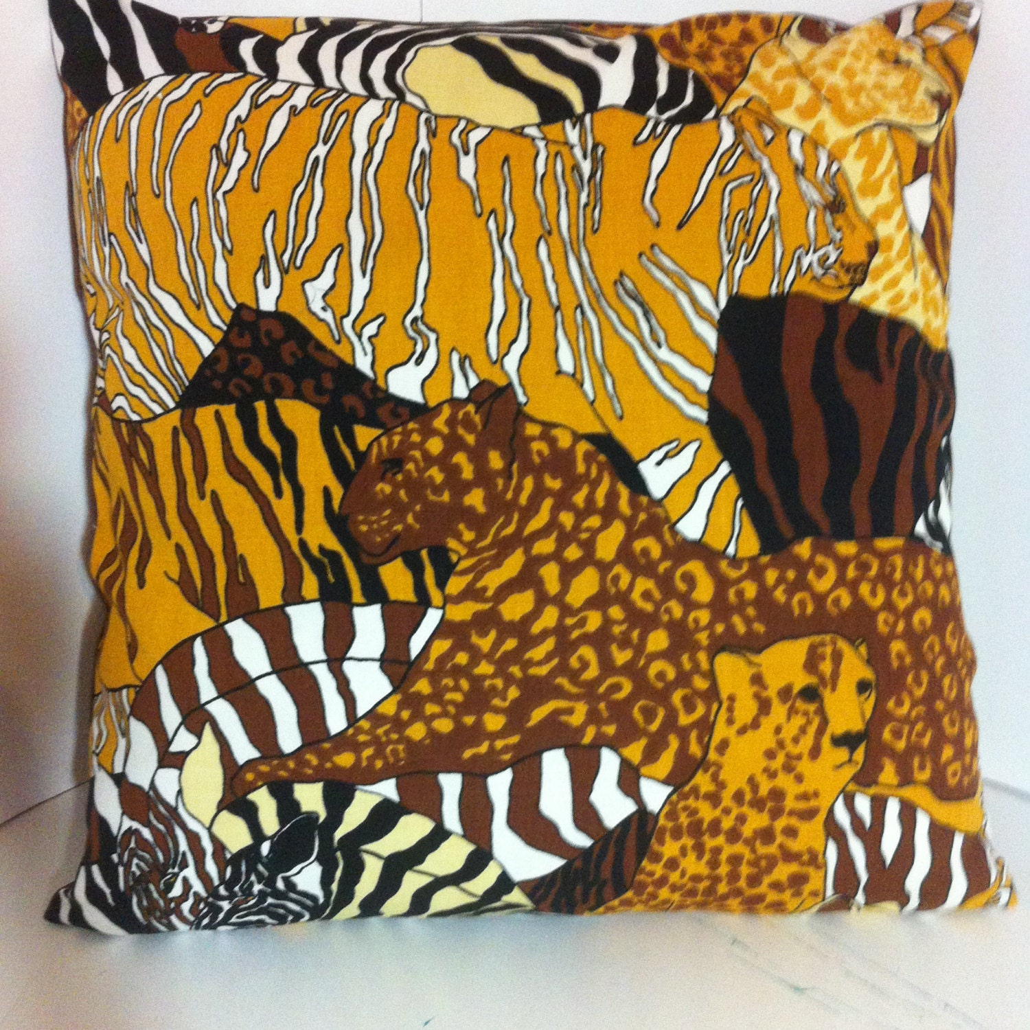 Beautiful and Rare Large Scale Animal Design Pillow with