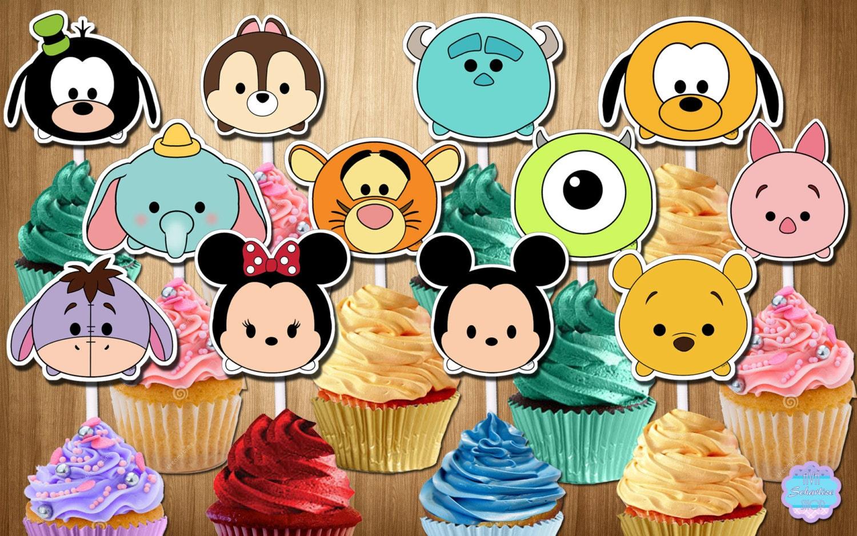 Pintar Tsum Eeyore Coloring Stitch Dibujos: Disney TSUM TSUM Cupcake Toppers Cupcake Selecciones Para