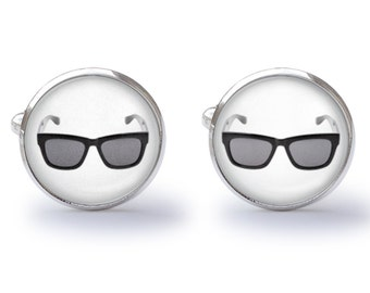 Shades Cufflinks - Sun Glasses Cufflinks - Aviator Cufflinks - Summertime Cuff Links (Pair) Lifetime Guarantee (S0534)