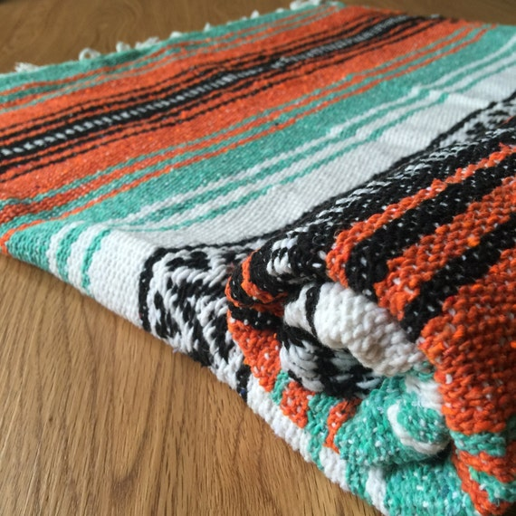 Beach Yoga Blanket: MEXICAN BLANKET Yoga Beach Camping Festival Vintage By