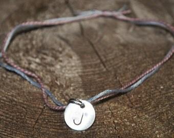 Initial Jewelry, Monogram Jewelry, Custom Jewelry, Personalized Jewelry, Initial J Jewelry, Signet Bracelet, J ID Bracelet, Stamped Bracelet