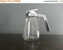50% Off Sale - Mid Century Federal Housewares Glass Syrup Dispenser