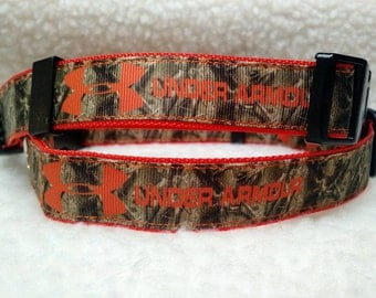 Orange/Camo Dog Collar 1 Inch Wide