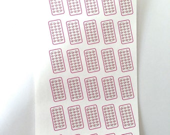 PERS-11 Birth Control Planner Stickers