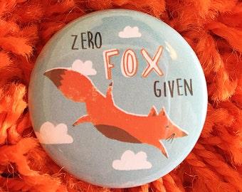 Funny Fox animal pun pin badges