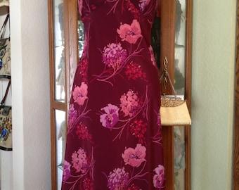 Vintage 1990's Floral Slip Dress * Size Medium * Express
