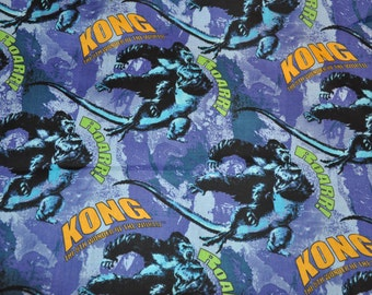 Retired!   One Yard of Universal Studios King Kong Movie 100% Cotton Quilt Fabric