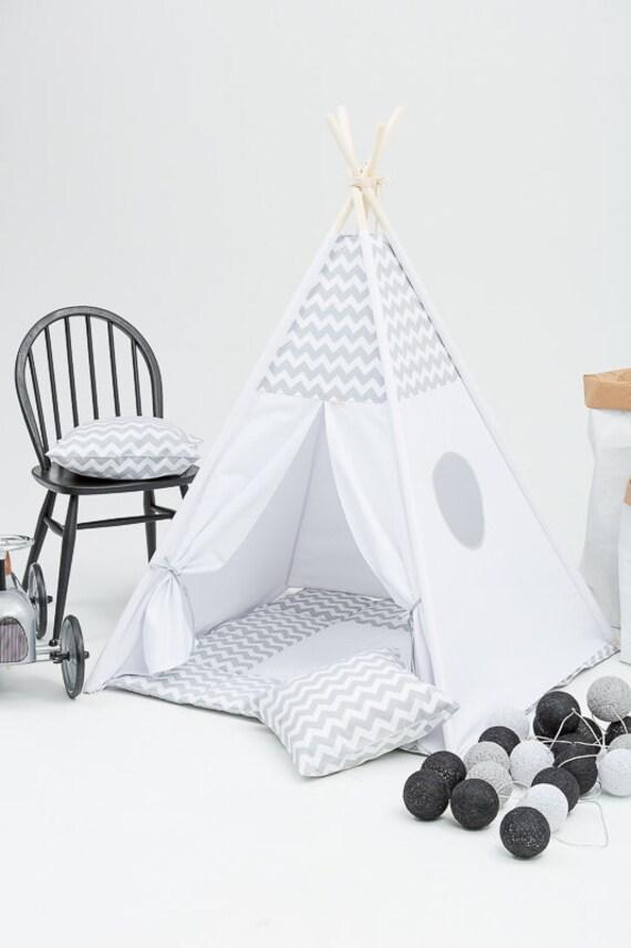 Tipi pour enfants tipi jeu tente enfants playhouse naturel - Lit tipi enfant ...