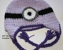 Crochet Minion Hat, Hello Kitty Hat, TMNT Hat, Mario Hat, Luigi Hat, Batman Hat, Crochet Character Hats, Baby Crochet Hat, Ready To Ship