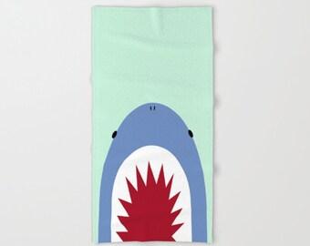 Shark Bath Towel / Shark Hand Towel / Shark Beach Towel