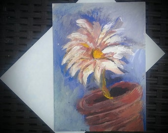 Hand-Painted greeting card original