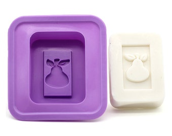 Rounded Rectangle Pear Mould - DIY Soap Making Silicone Mold