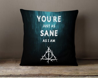 Harry Potter Pillow | Harry Potter Gifts | Harry Potter Decor | Harry Potter Deathly Hallows | Harry Potter Always | Harry Potter Bedding